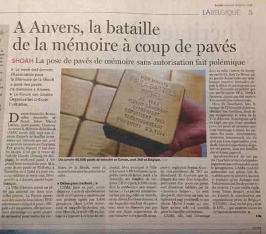 Le Soir anvers 6 02 2018